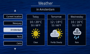 Guideline weather feature
