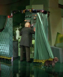 Pay no attention to the man behind the curtain... Wizard of Oz